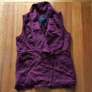 maroon flowy vest
